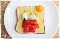 Mais de 50 almoços artísticos para crianças: Sleeping Snoopy