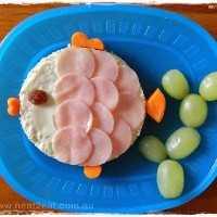 Mais de 50 almoços artísticos para crianças: sanduíche de peixe e vegetais