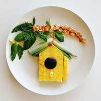 Mais de 50 almoços artísticos para crianças: uma casa de passarinho com sabor de frutas