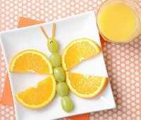 Mais de 50 almoços para crianças - Fruity Butterfly