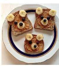 Mais de 50 almoços artísticos para crianças - Beary Toast