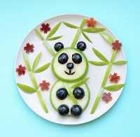 Mais de 50 almoços para crianças Food Art - Panda Bear Food Art