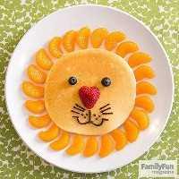 Mais de 50 almoços artísticos para crianças - Lion Pancake
