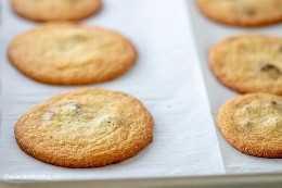 Mãos os melhores biscoitos de chocolate Keto que eu já provei! Fácil de fazer, absolutamente delicioso, e apenas 2g de carboidratos líquidos por cookie!