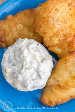 Try this quick and easy tartar sauce recipe and you'll never want to buy in the store again! The | NatashasKitchen.com