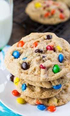 Cookies suaves y masticables de M&M
