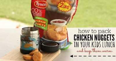 mantener calientes los nuggets de pollo
