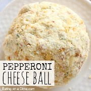 square pepperoni cheese ball