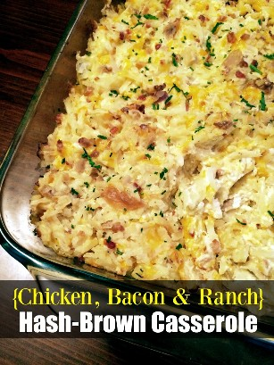 Frango. Caçarola de bacon e hash marrom | Receitas latinas!