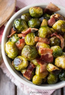 Baked Brussels Sprouts with Bacon: A Family Party