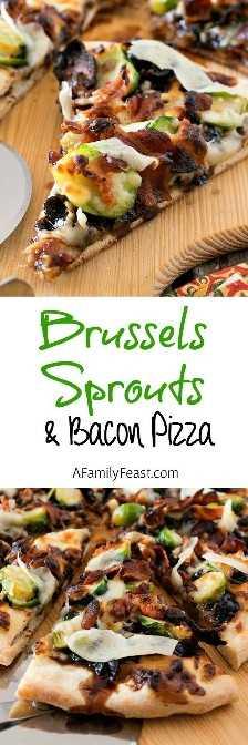 Coles de Bruselas y pizza de tocino: ¡una combinación de sabores fantástica para una pizza!
