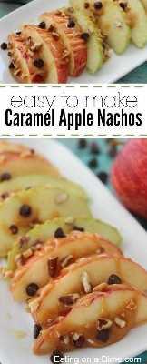 receita fácil de fazer knachos de maçã com caramelo