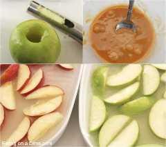 nachos de caramelo de maçã como fazer