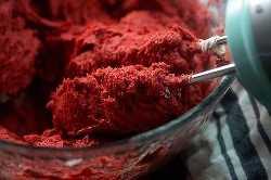 masa de galletas de terciopelo rojo