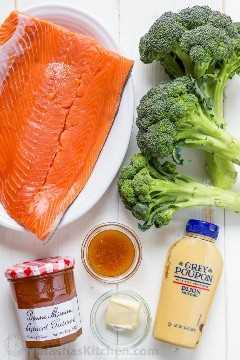 Ingredientes para el pollo Dijon de albaricoque: salmón silvestre vs salmón de piscifactoría