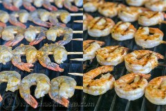 Espetos de camarão Cajun grelhado-10