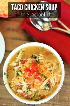 O jantar está pronto em um instante com a receita instantânea de sopa de frango com taco. Experimente esta receita fácil de panela de pressão com sopa de frango com taco para ter uma ideia de fast food.