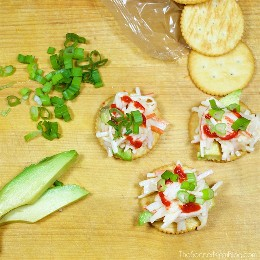 It's not a party without RITZ Crackers! These 3 incredibly easy recipes from RITZ Cracker will be the success of your next event, and will only take a few minutes to make! RITZwiches with cream cheese and mango, RITZwiches with spicy crab and avocado, and Ritzwiches with Quesadilla Fresca