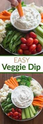 Fácil molho de vegetais feito com apenas 4 ingredientes simples! Sirva com seus legumes crus e frescos favoritos para um excelente aperitivo ou guarnição. O   Tem um sabor melhor do zero