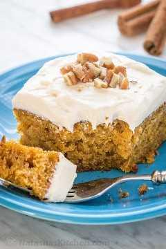 Receta de pastel de calabaza con nueces picadas