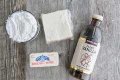 Ingredientes para el glaseado de queso crema