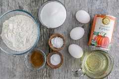 Ingredientes para pastel de calabaza fácil
