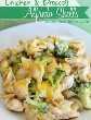 Conchas de pollo y brócoli Alfredo