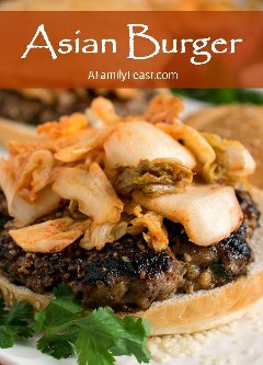 ¡Estas hamburguesas asiáticas están llenas de sabor fantástico!