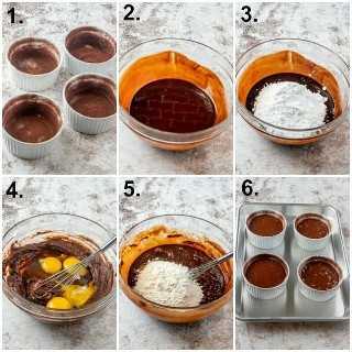 Fotos paso a paso sobre cómo hacer pastel de chocolate con lava