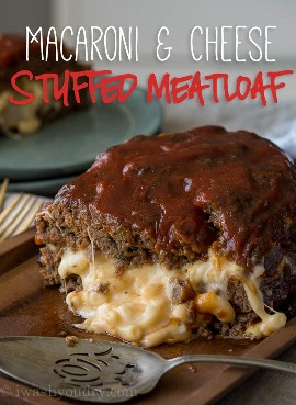"""¡A toda mi familia LE ENCANTA este pastel de carne relleno de queso y macarrones! ¡Está lleno de macarrones con queso extra y el pastel de carne está perfectamente tierno! """"Width ="""" 675 """"height ="""" 923 """"srcset ="""" https://iwashyoudry.com/wp-content/uploads/2017/08/Macaroni-and-Cheese -Stuffed-Meatloaf-8-copy.jpg 675w, https://iwashyoudry.com/wp-content/uploads/2017/08/Macaroni-and-Cheese-Stuffed-Meatloaf-8-copy-600x820.jpg 600w """"tamaños = """"(ancho máximo: 675 px) 100vw, 675 px"""