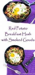 Patata Roja Desayuno con Papas Fritas con Gouda Ahumado