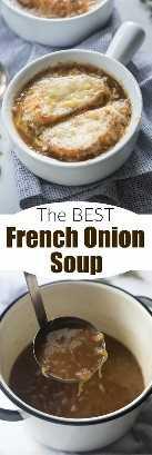 ¡Hacer una auténtica sopa de cebolla francesa es más fácil de lo que piensas! ¡Esta sopa maravillosa, sencilla y sabrosa es el plato cálido perfecto para el invierno! El | Sabe mejor desde cero