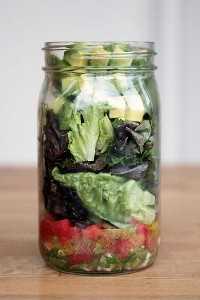 33 Ensaladas Saludables Mason Jar - Ensalada de Masca Jar Guacamole