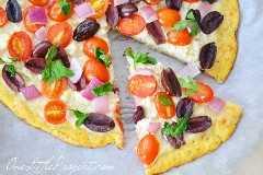 Receta de corteza de pizza de coliflor