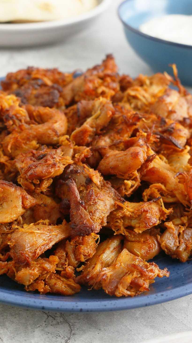 shawarma instantáneo de pollo