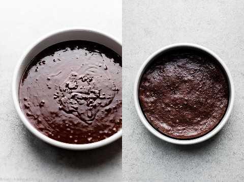 masa de pastel de chocolate sin harina