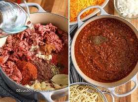Dos ingredientes que muestran los ingredientes antes y después de ser cocinados.
