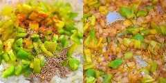 cocinar pimientos y especias