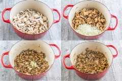 Chicken Tetrazzini es un horneado de pasta de pollo reconfortante, cursi y supremamente cremoso. ¡Esta cazuela de pasta de pollo hará que su familia vuelva a llenar sus cuencos!