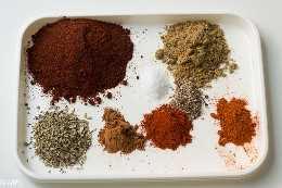 especias para olla a presión chile de pavo