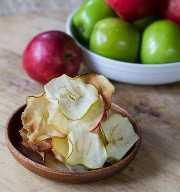 Chips de manzana caramelizada