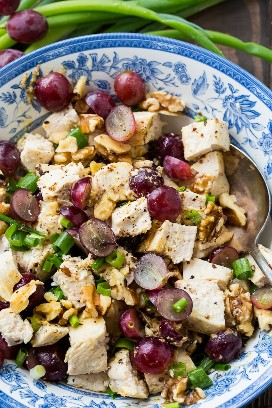 Pollo con Vinagreta de Uvas y Mostaza