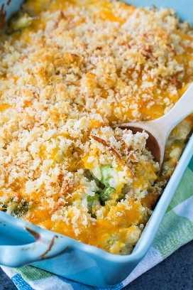 Cazuela de arroz y brócoli con queso (desde cero)