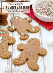 ¡Estas galletas de chocolate Gingerbread Man son perfectas para bandejas de galletas navideñas o para regalar!