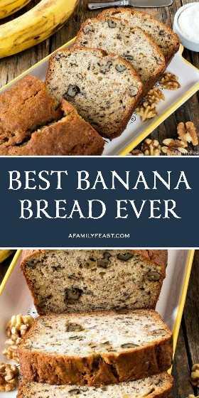 El mejor pan de plátano