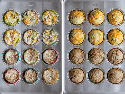 Fotos antes y después que muestran a los niños magdalenas en una lata de panecillos