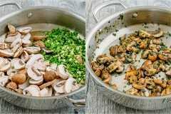 Macarrão de frango florentino em um molho cremoso leve. Refeição fácil de 30 minutos durante a semana. Além disso, este macarrão de frango florentino esquenta maravilhosamente, como sempre!