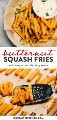 Colagem do Pinterest para a receita de batatas fritas de abóbora.