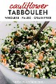 Imagen de Pinterest para la receta entera30 de tabulé de coliflor.