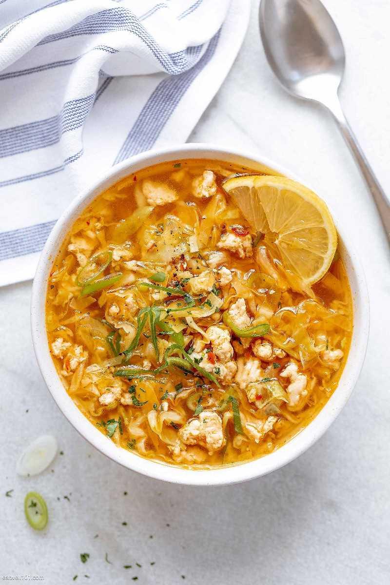 Receta de sopa de rollo de huevo de pavo 5